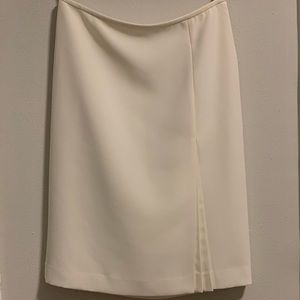 Calvin Klein pleated pencil skirt 100% silk